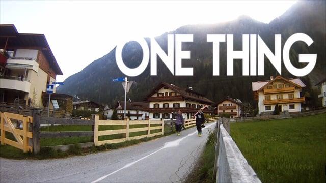 One Thing – Self Edit Dan Rowe 2014